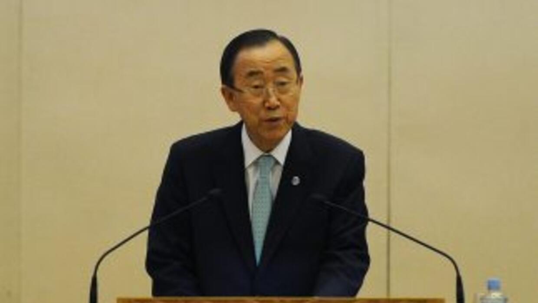 Ban mostró su condena de los dos atentados con coche bomba acontecidos e...