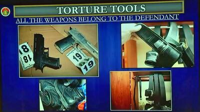 Las herramientas de tortura. Imágenes presentadas en el juicio contra Is...