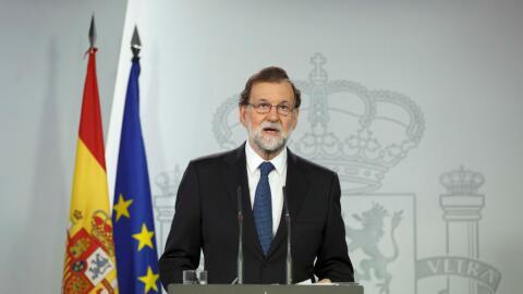 Mariano Rajoy, presidente de gobierno español, pide al gobierno c...