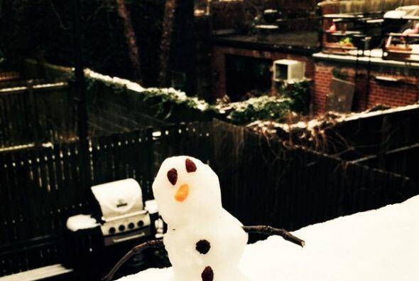 Y además compartió cómo aprovechó la nieve d...
