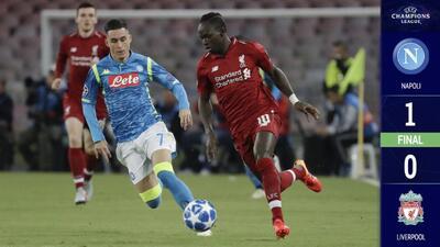 Napoli le pega al Liverpool con gol en la recta final del partido