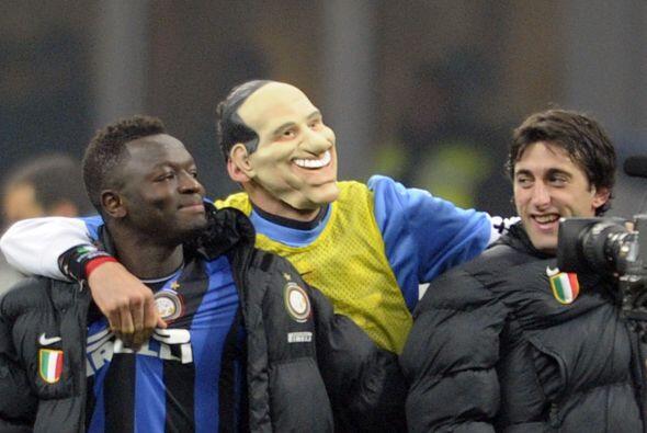 Luego del triunfo de Inter de Milan sobre el Milan, Materazzi se coloc&o...