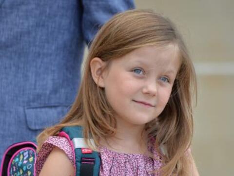 La hija de los futuros reyes de Dinamarca, Federico y Mary, salió...
