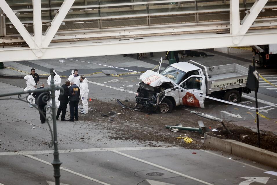 Arrollamiento en Manhattan. Al menos ocho personas murieron en Manhattan...