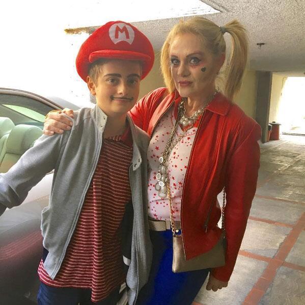 Actores de novela con disfraz de Halloween