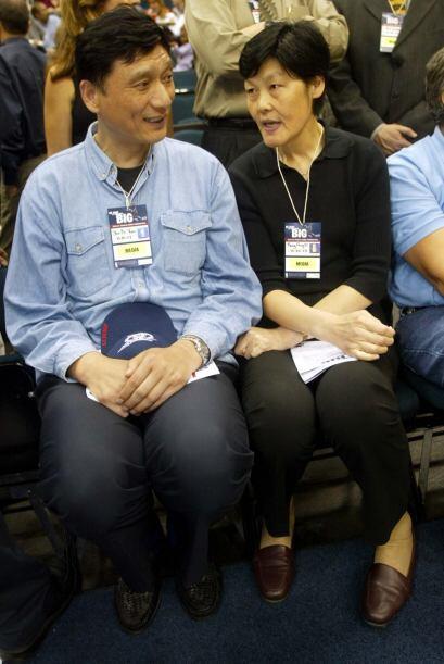 Los padres de Yao, Yao Zhiyuan y Fengdi Fang, fueron estrellas del balon...