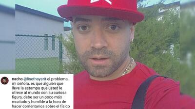 Nacho se discute por su cuenta de Instagram con usuario por un mensaje sobre su hijo