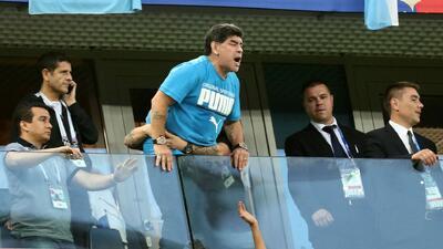 Diego Maradona desmiente los rumores sobre su muerte tras el partido Argentina-Nigeria