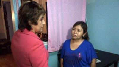 Margarita Castillo, la madre de Baby Hope, entrevistada por la periodist...