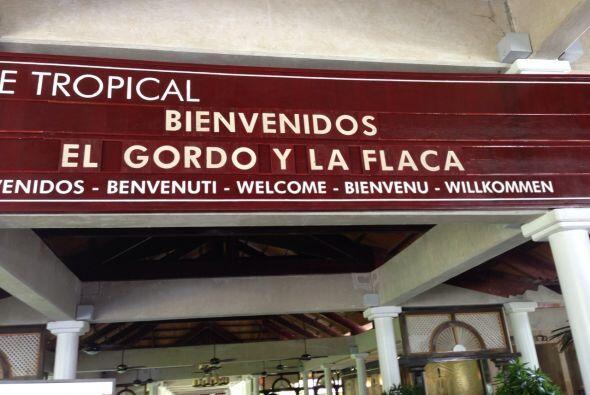 En el hotel Meliá Caribe Tropical nos dieron la bienvenida a lo g...