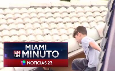 'Miami en un Minuto': policía encuentra en el techo de una casa en Hiale...