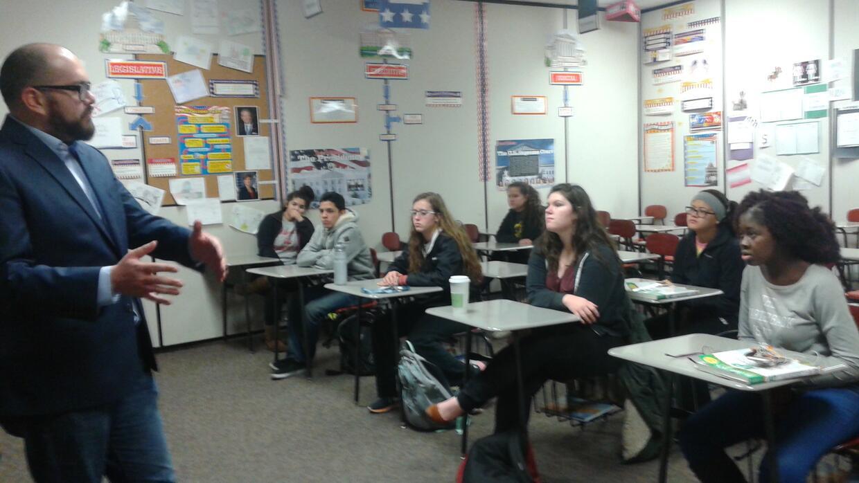 Taller de caucus en East High School, Des Moines