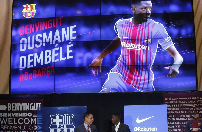 Dembélé será baja entre 3 y 4 meses por ruptura en tendón del bíceps fem...