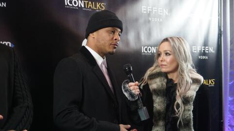 Dana Cortez of the Dana Cortez Show interviews rapper TI at the ICON Tal...