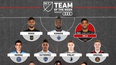 Tras la Jornada 2 de la MLS, Carlos Vela y Diego Rossi conducen el ataque del Equipo de la Semana