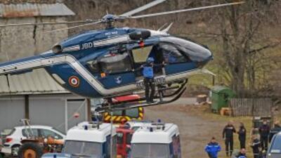 La evacuación en helicóptero de los cuerpos de las víctimas ha comenzado.
