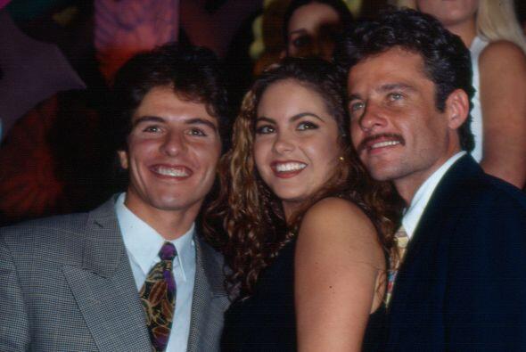 Ernesto Laguardia, Lucero y Alexis Ayala en 1993, cuando encabezaron la...