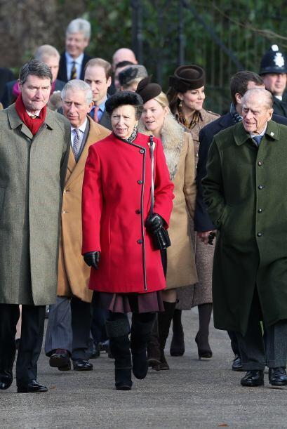 A la ceremonia religiosa de este año acudieron los condes de Wessex y su...