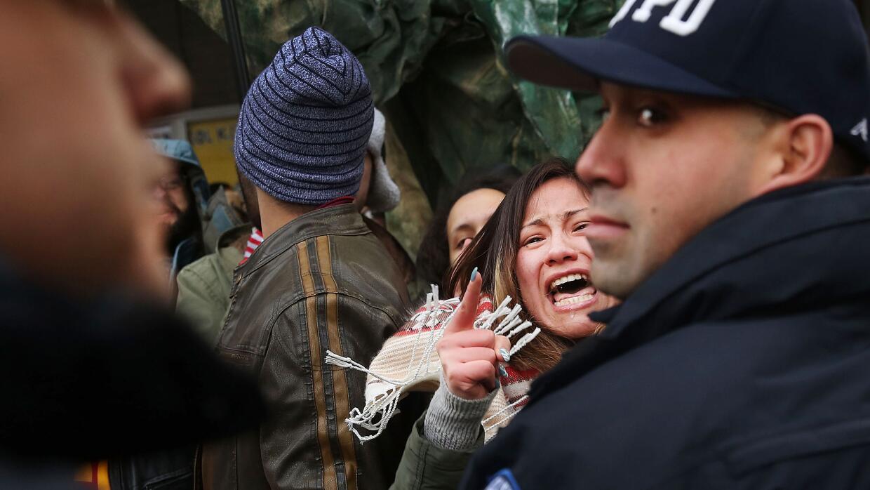 Manifestación contra las deportaciones.