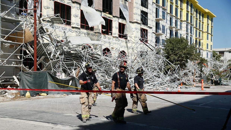 La caída de un andamio en Houston.