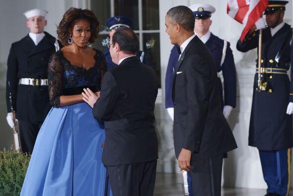 Así lució la primera dama durante la visita oficial del pr...