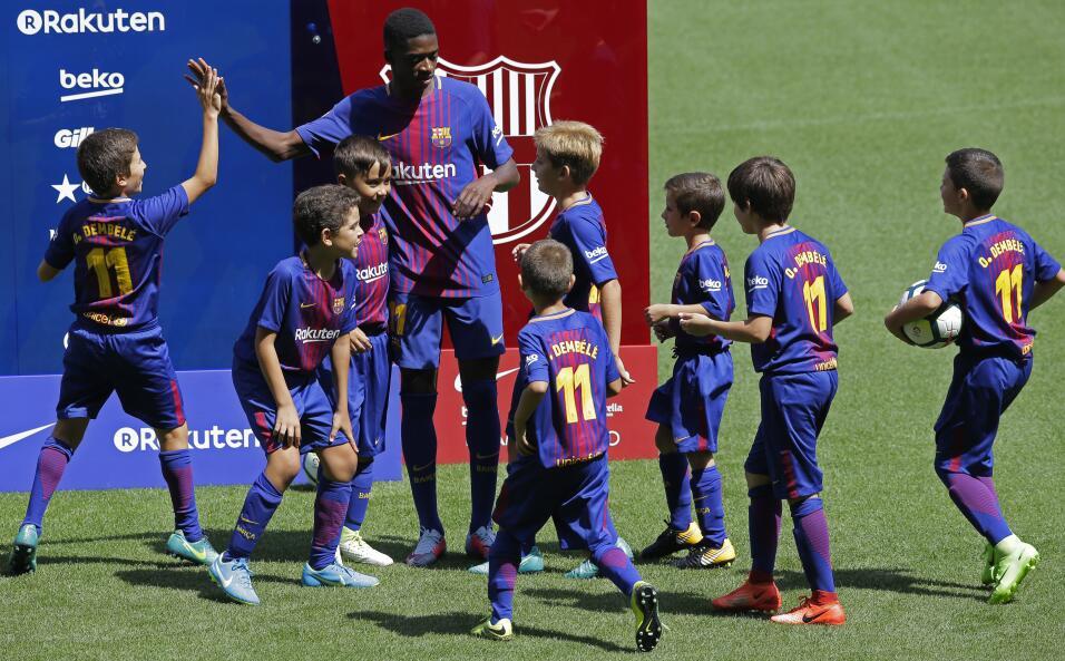 Ousmane Dembélé vuelve a los entrenamientos con Barcelona AP_17240477244...