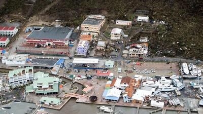 El paso destructivo de Irma por la isla de San Martín (FOTOS)