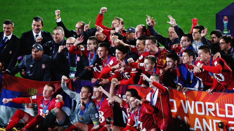 Serbia celebra el título mundial sub-20.