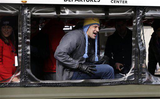 El estelar TE Rob Gronkowski (AP-NFL).