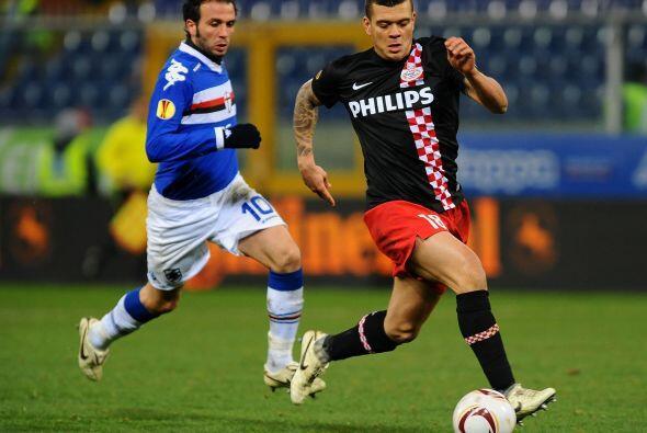 El PSV Eindhoven se metió a la casa de la Sampdoria en un duelo c...
