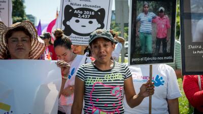 La campesina Ele Valle protesta en Nicaragua por el asesinato de sus dos...