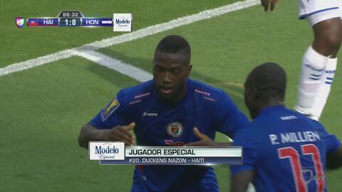 Duckens Nazon consumó la sorpresa haitiana con un gol empalmado contra e...