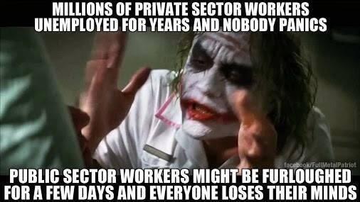 """""""Millones de empleados del sector privado están desempleados por años y..."""