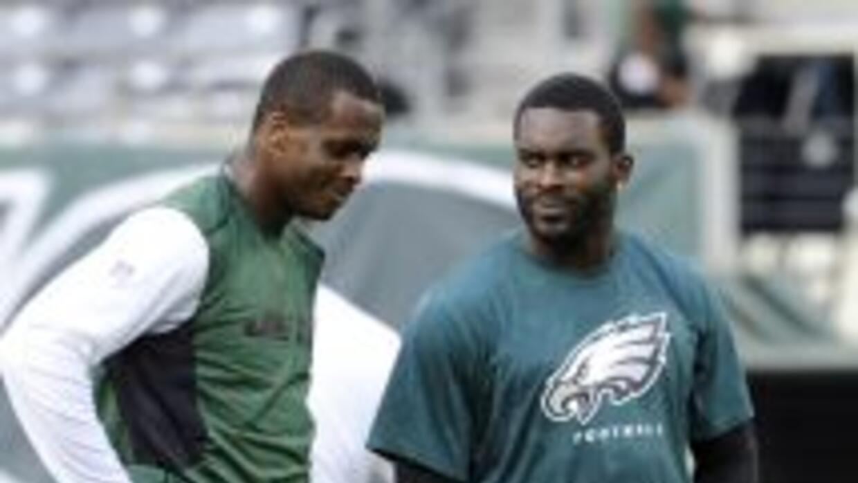 Geno Smith y Michael Vick son buenos amigos (AP-NFL).