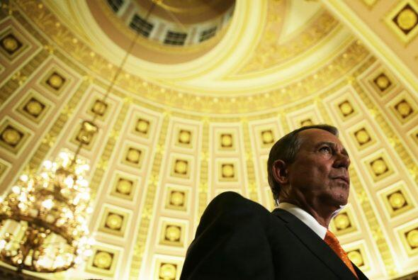El presidente de la Cámara de Representantes, el republicano John Boehne...