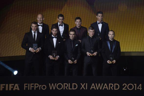 Messi, Cristiano, Ramos, Iniesta, Kroos y Di María encabezaron el 11 ide...