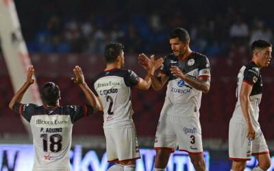Lobos BUAP en su juego ante Veracruz.