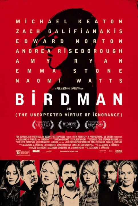Birdman (2014) ganó cuatro Oscar en 2015, entre ellos Mejor director, Me...