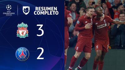 Liverpool 3-2 PSG - GOLES Y RESUMEN - Grupo C UEFA Champions League