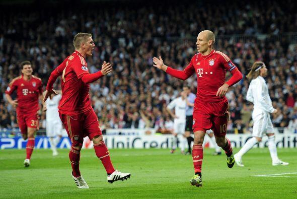Robben fue el mejor del primer tiempo para el Bayern.