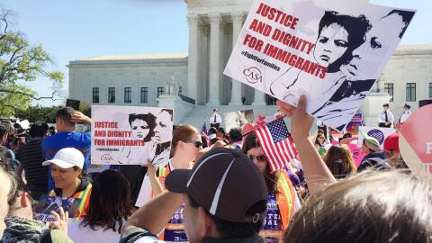Manifestación de apoyo a la Acción Ejecutiva frente a la Corte Suprema d...