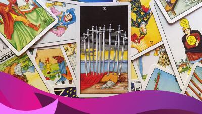 El doloroso diez de espadas del tarot