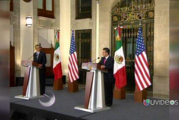 El presidente de EEUU, Barack Obama, se despidió de México tras haber ll...