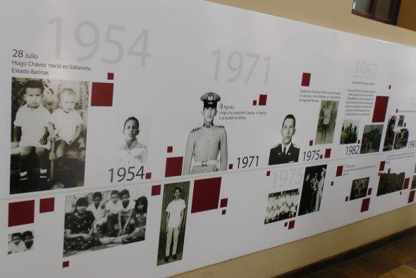 """En el museo se instaló una """"Línea de vida"""" con los momentos más simbólic..."""