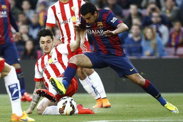 Pedro Rodríguez recibió minutos en lugar de Nyemar en la ofensiva catala...
