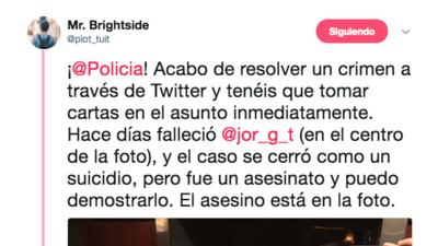 La historia ficticia que se ha hecho viral en Twitter sobre cómo un desconocido resolvió un crimen gracias a una foto
