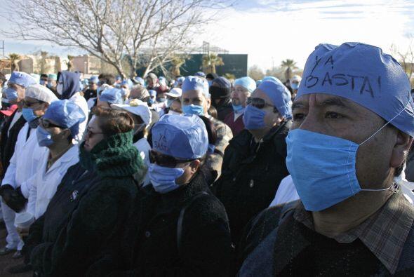Médicos y enfermeras han sido de los manifestantes más recurrentes, que...
