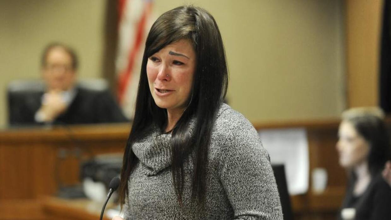 January Neatherlin en la corte durante su sentencia