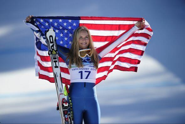 La estrella estadounidense Lindsey Vonn, de 26 años,  doble campeona mun...