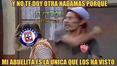 Los memes de la eliminación del Cruz Azul ante Necaxa en Copa MX
